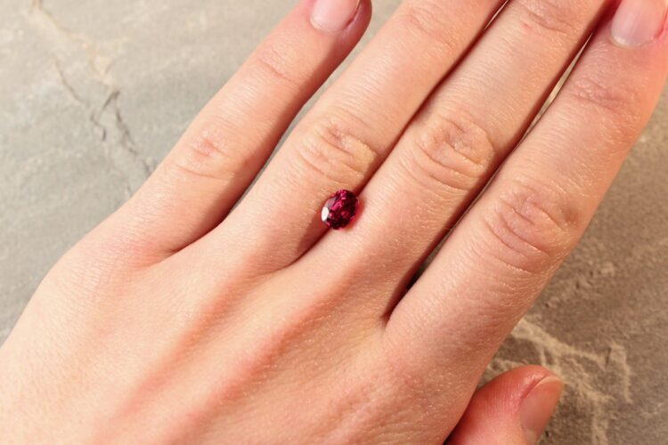 1.38 ct red oval ruby