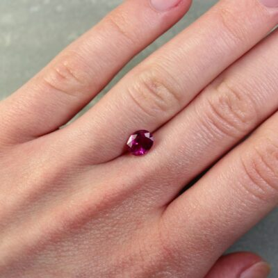1.38 ct purplish red oval ruby