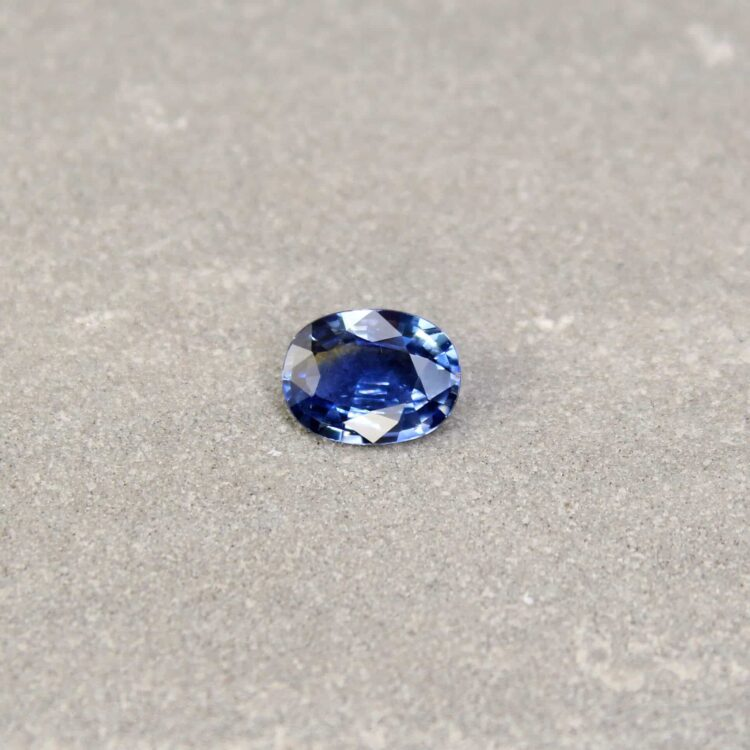 1.40 ct blue oval sapphire
