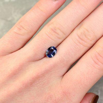 1.40 ct blue oval sapphire