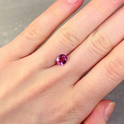 1.54 ct pink oval sapphire