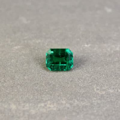 1.63 ct green octagon emerald