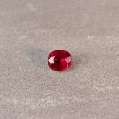 1.74 ct red cushion ruby