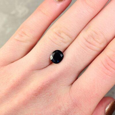 1.81 ct blue cushion sapphire