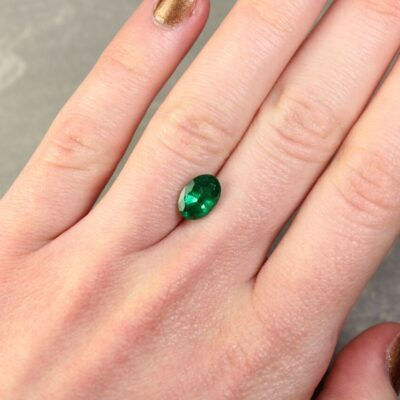 1.82 ct oval green emerald