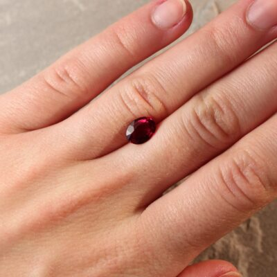 2.00 ct vivid red oval ruby