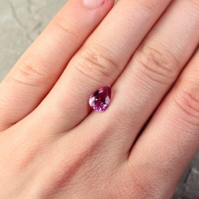 2.01 ct pink pear shape sapphire