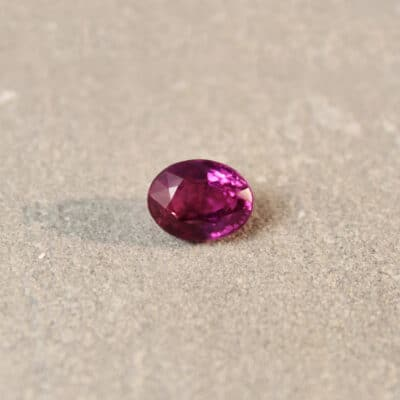 2.02 ct purple oval sapphire
