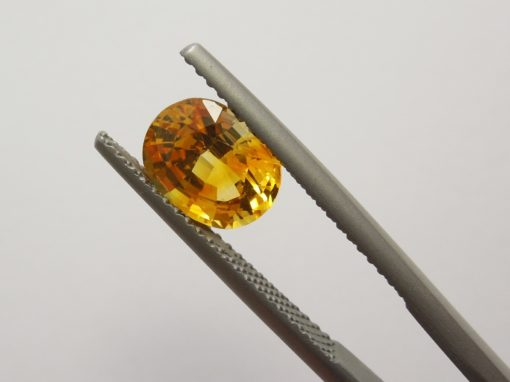 2.09 ct oval yellow sapphire
