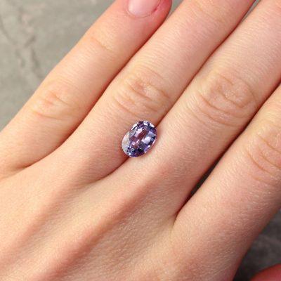2.16 ct blue oval sapphire