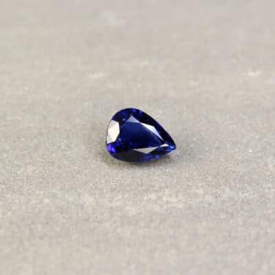 2.23 ct blue pear sapphire