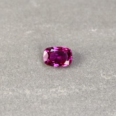 2.33 ct pinkish-red cushion ruby