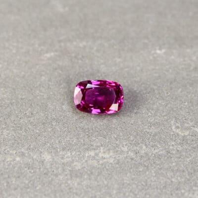 2.33 ct pinkish-red cushion ruby