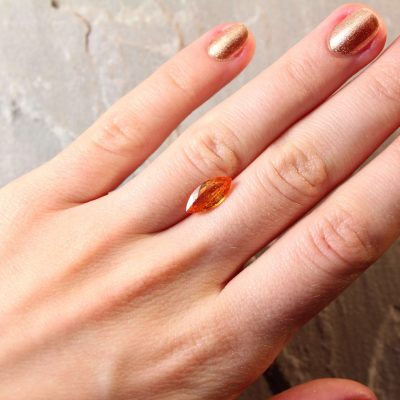 2.39 ct orange marquise sapphire