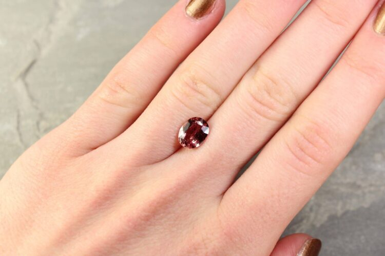 2.40 ct brown oval sapphire