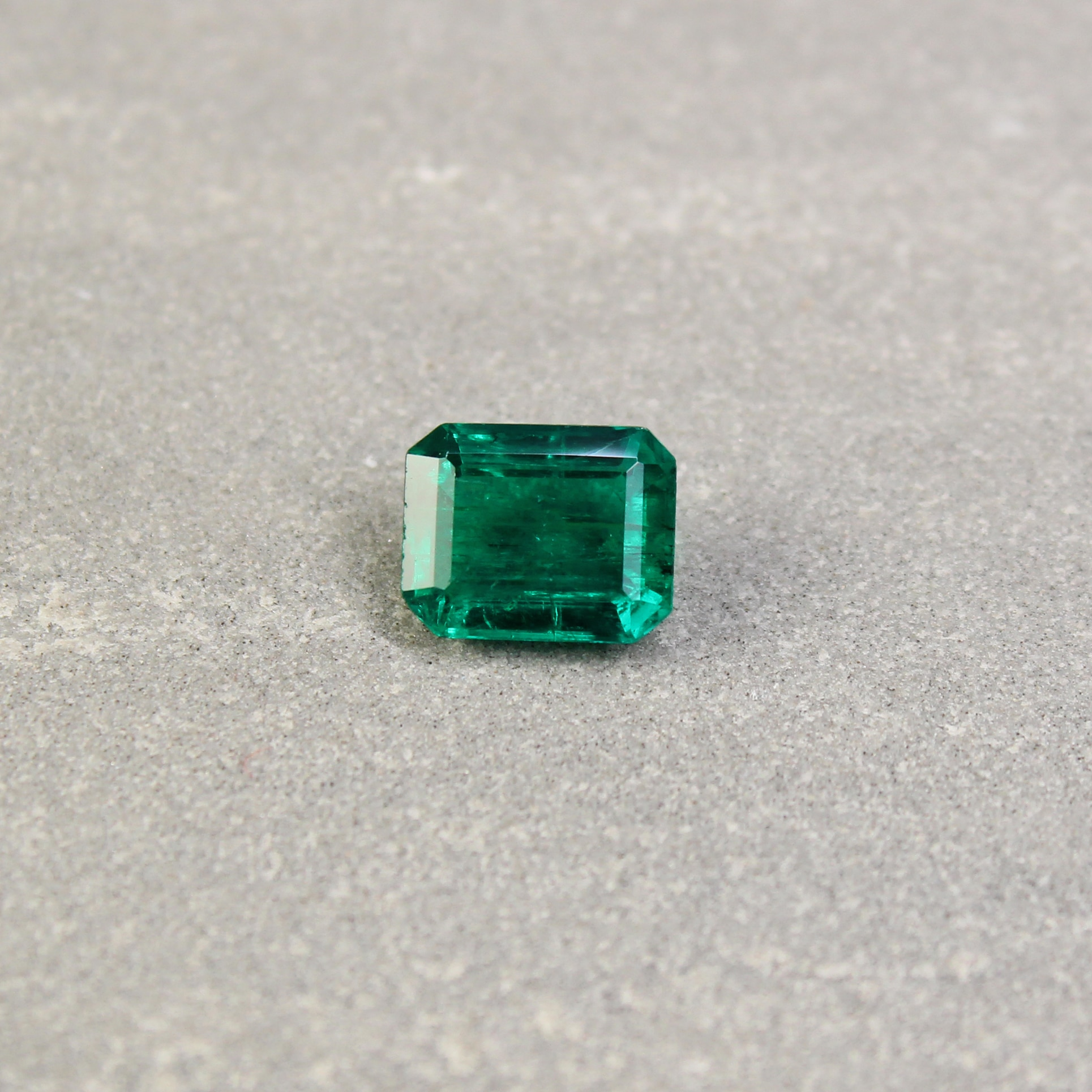 2.41 ct octagon green emerald