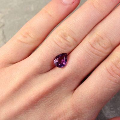 Purple Pear Shape Sapphire