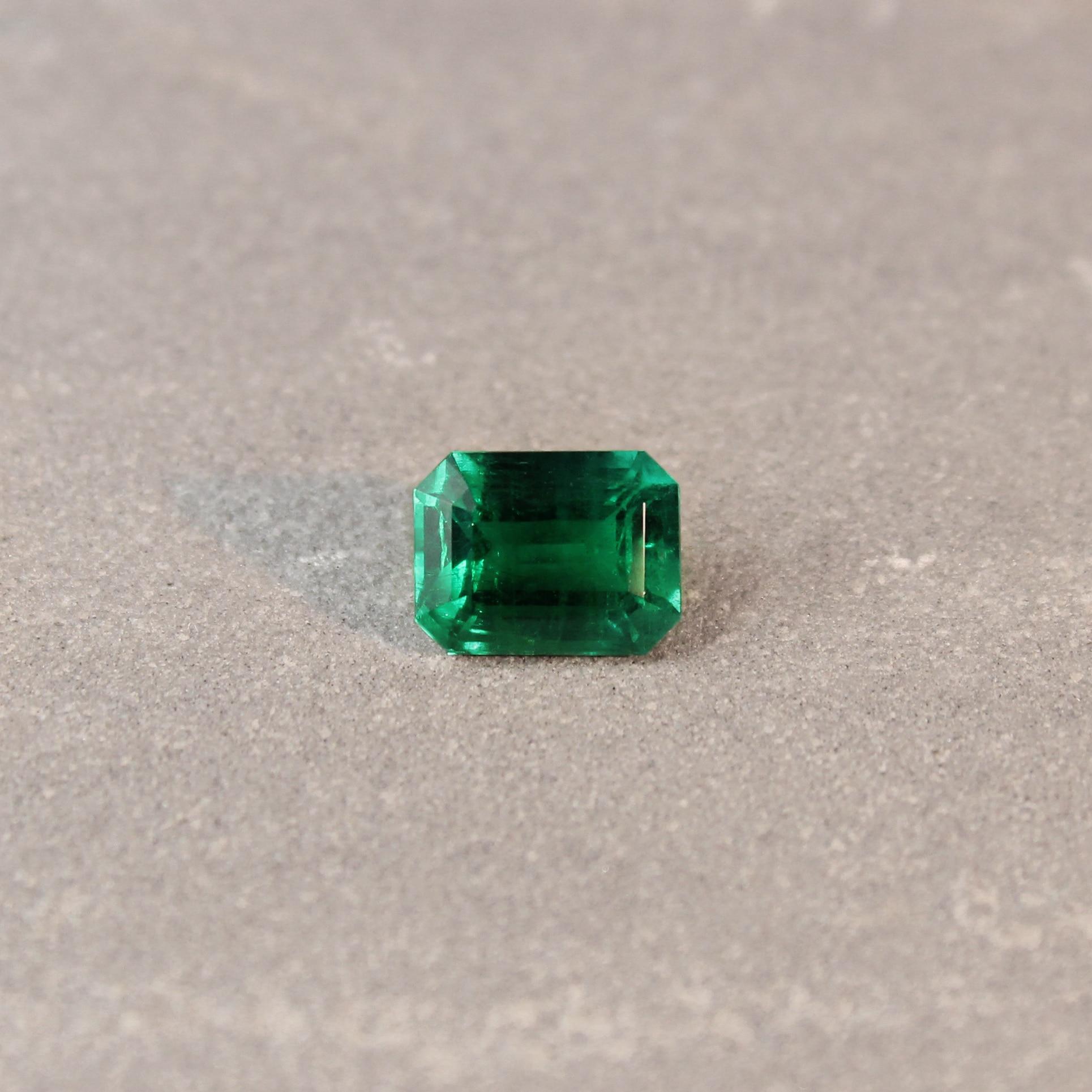 2.47 ct green octagon emerald