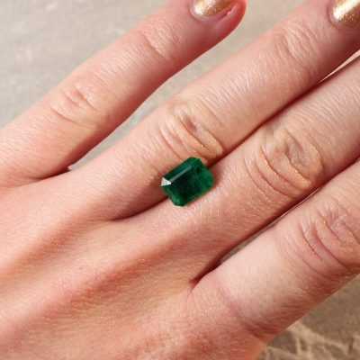 2.47 ct green octagon emerald