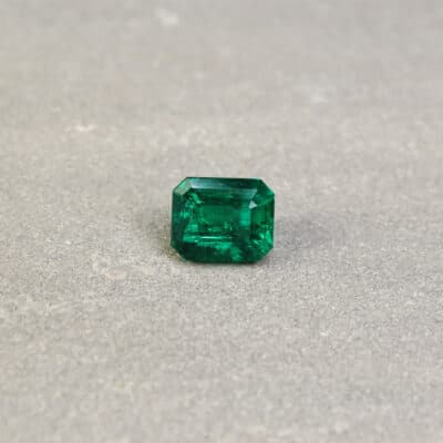 2.59 ct green octagon emerald