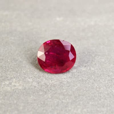 2.62 ct purplish red oval ruby