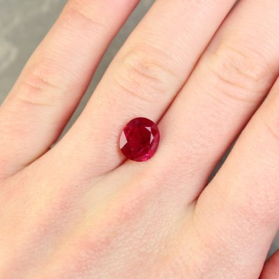Purplish Red Oval Ruby