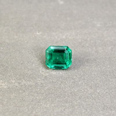 2.63 ct octagon green emerald