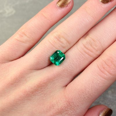 2.63 ct octagon green emerald