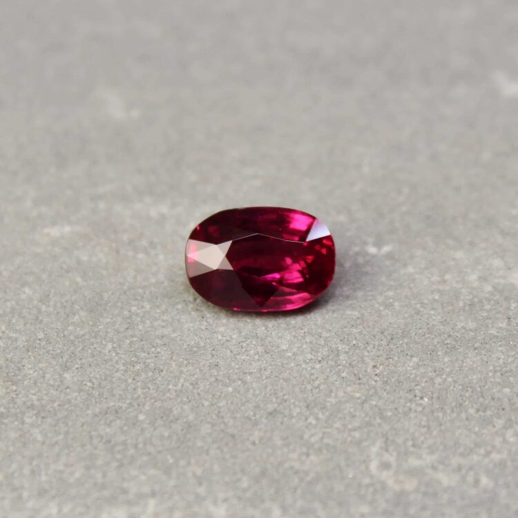 2.75 ct red oval ruby