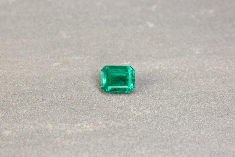 2.91 ct emerald cut green emerald