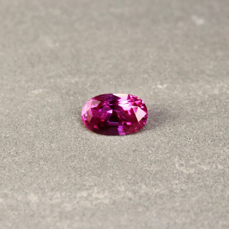 3.04 ct oval pinkish red ruby