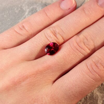 3.04 ct vivid red oval ruby