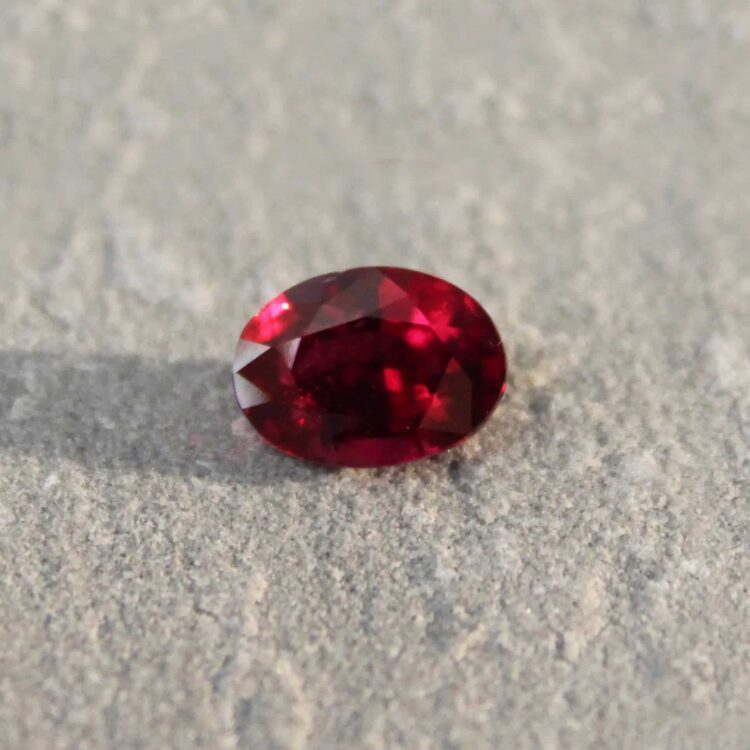 3.05 ct vivid red oval ruby