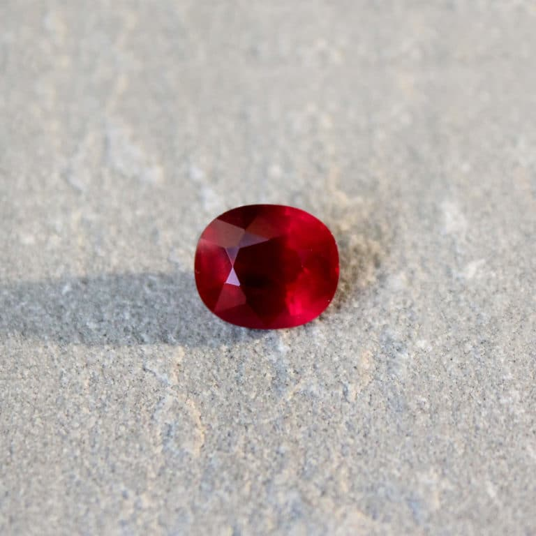 3.07 ct vivid red oval ruby