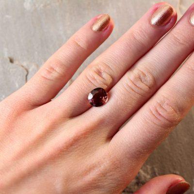 3.24 ct orange/brown oval sapphire
