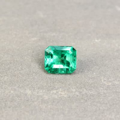 3.25 ct octagon green emerald