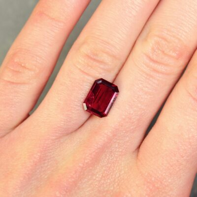 3.27 ct red octagon ruby