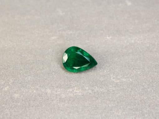 3.43 ct pear shape green emerald