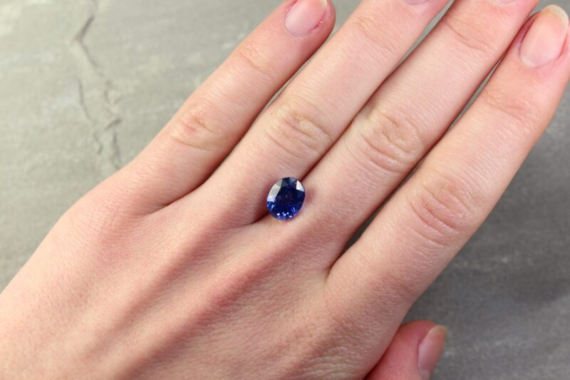 3.61 ct oval blue sapphire