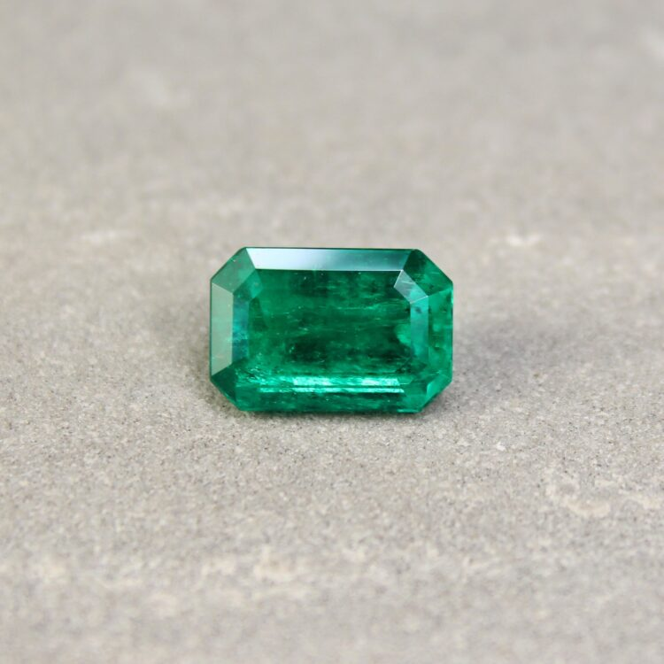 3.64 ct octagon green emerald