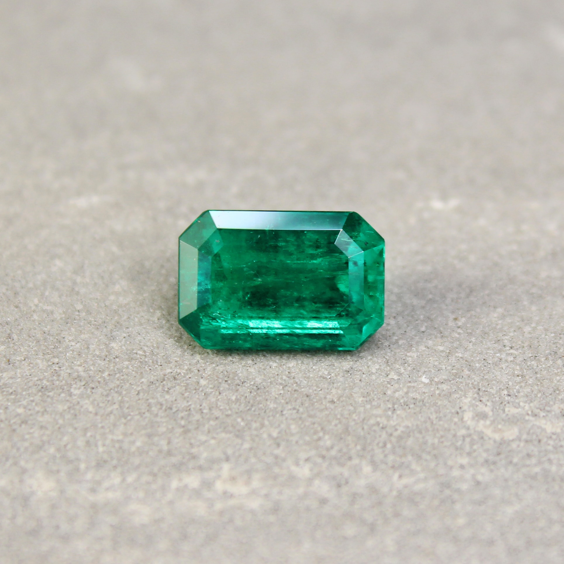3.64 ct octagon green emerald