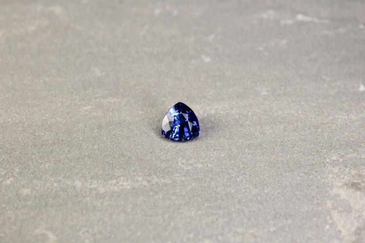 3.70 ct blue trilliant sapphire