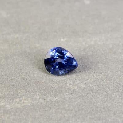 3.92 ct blue pear shape sapphire