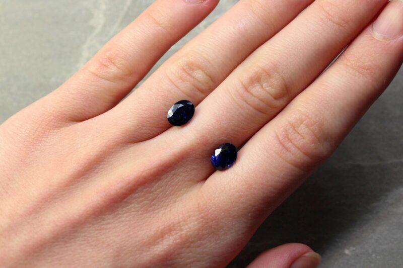 3.96 ct blue oval sapphire