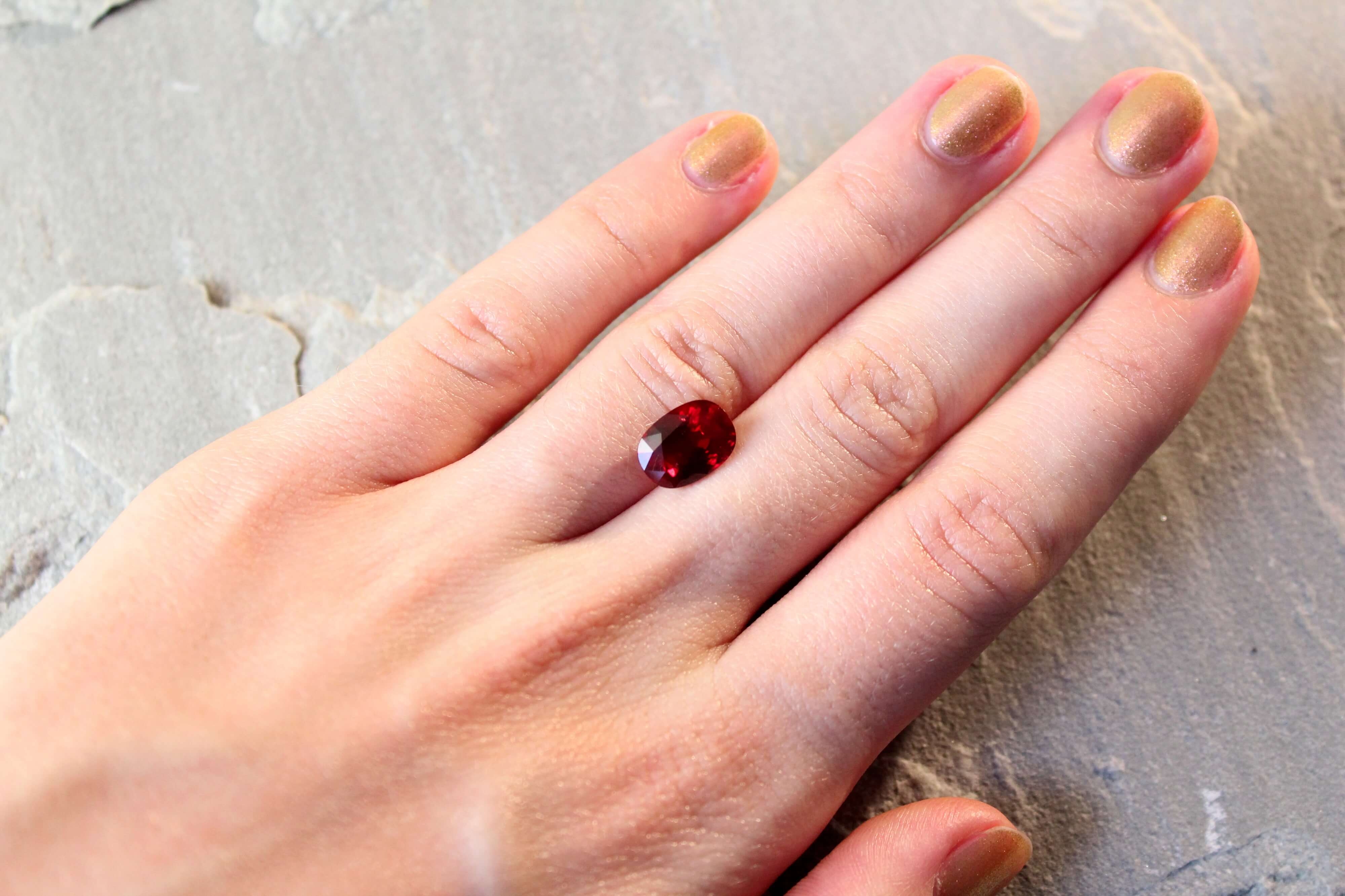 4.06 ct red oval ruby