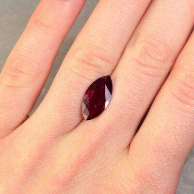 4.12 ct purplish red marquise ruby
