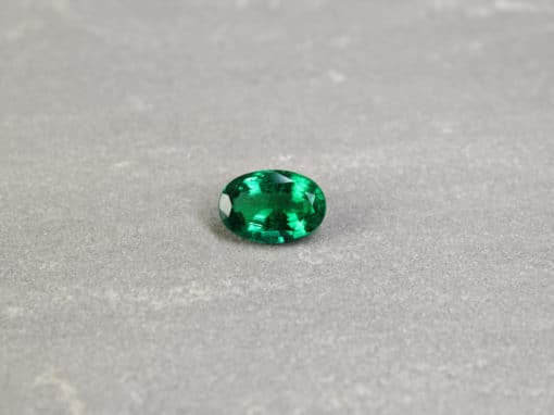 4.24 ct oval green emerald
