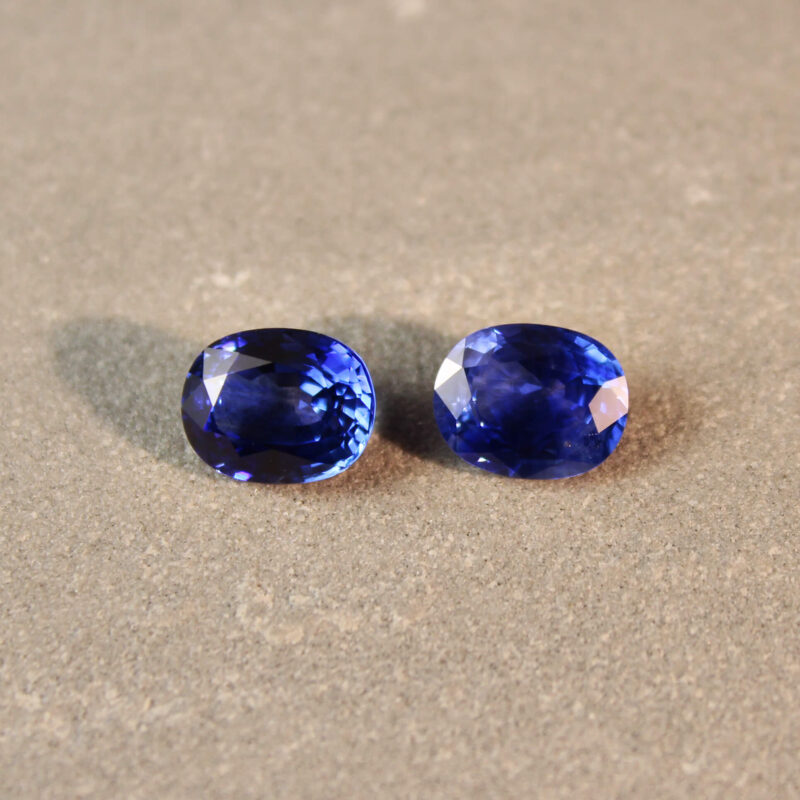 4.29 ct blue oval sapphire