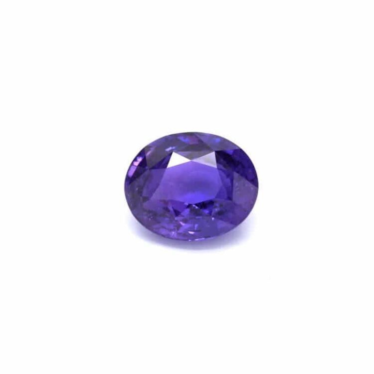 4.52 ct oval purple sapphire