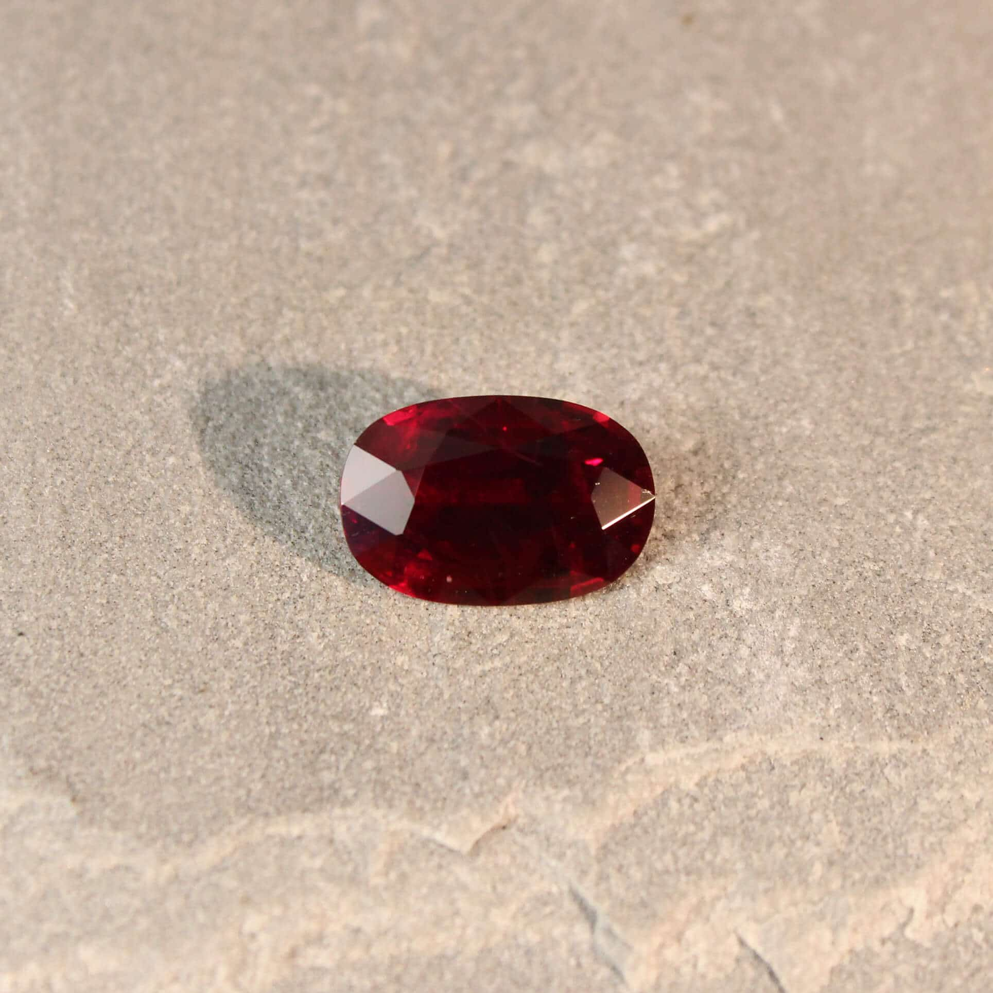 4.71 ct red oval ruby